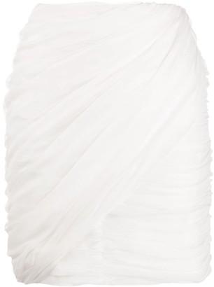 Giambattista Valli Draped Gathered Skirt