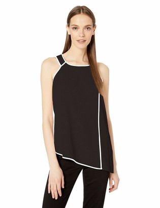 Calvin Klein Women's Halter Top with Piping