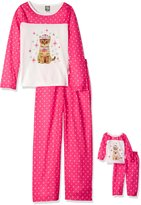 Dollie & Me Big Girls' Princess Cat Sleepwear Set