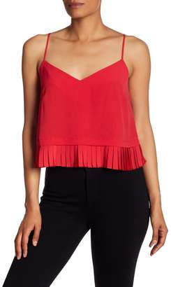 French Connection Polly Plains Pleated Hem Tank Top