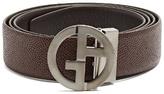 Giorgio Armani GA-buckle leather belt