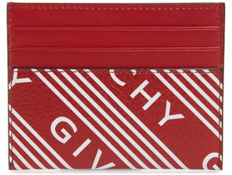 Givenchy Logo Band Leather Card Case
