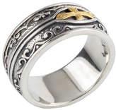 Konstantino Men's Sterling Silver & 18K Gold Cross Ring