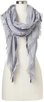 Gap Drapey fringe open weave scarf