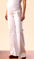A Pea in the Pod Mid Belly Linen Wide Leg Maternity Pant