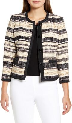 Anne Klein Stripe Jacquard Jacket