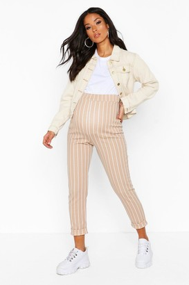 boohoo Maternity Stripe Tapered Trouser