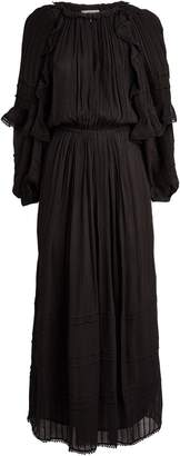 Etoile Isabel Marant Justine Ruffle Maxi Dress
