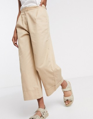 Selected culottes in beige