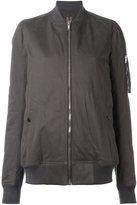 Rick Owens zip front long body bomber jacket - women - Cotton/Polyamide/Polyester - L