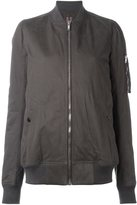 Rick Owens zip front long body bomber jacket