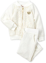 Juicy Couture Infant Girls) Two-Piece Metallic Printed Bomber Jacket & Pants Set
