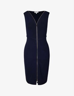 Reiss Eva zip stretch-twill bodycon mini dress