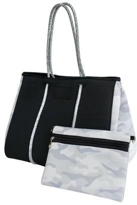 Bag And Bougie Black Camo Tote