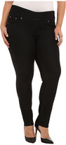 Jag Jeans Plus Size Nora Pull On Narrow Jeans in Black Rinse