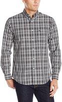 Dockers Long Sleeve Monochrome Plaid Cvc Woven Shirt