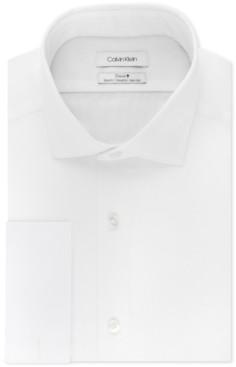 Calvin Klein Men's Slim-Fit French-Cuff Shirt