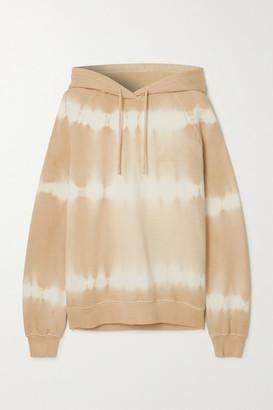 Ninety Percent + Net Sustain Tie-dyed Organic Cotton-jersey Hoodie - Beige