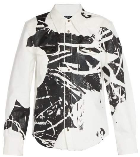 Calvin Klein 1964 Flower Print Cotton Jacket - Mens - Black White