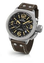 TW Steel Canteen Chronograph Stainless Steel & Leather Strap Watch