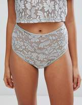 Glamorous Metallic Floral Lace Brief