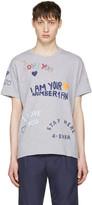 Kenzo Grey Valentines Text T-Shirt