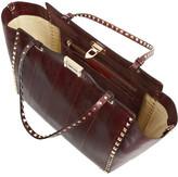 Valentino The Rockstud medium watersnake trapeze bag