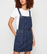 New Look Tall Denim Mini Pinafore Dress