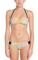 Hurley Aussie Green Multicolor Print Bikini Bottom