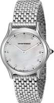 Emporio Armani Swiss Made Women's ARS7501 Analog Display Swiss Quartz Silver Watch