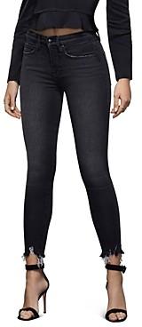 Good American Good Legs High-Rise Ankle Skinny Jeans in Black083