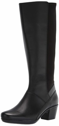 Clarks womens Emslie Emma Wide Calf Fashion Boot