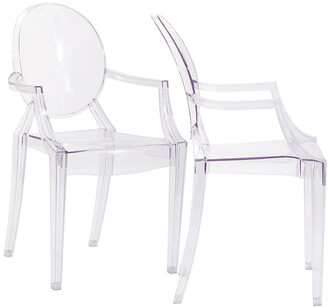 Modway Casper Dining Armchairs Acrylic Set
