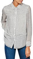 Mint Velvet Bordeaux Dobby Shirt, Black/White