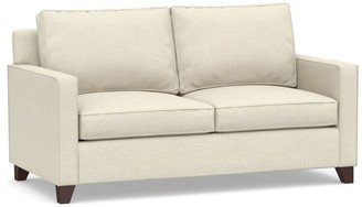 Pottery Barn Cameron Square Arm Upholstered Sleeper Sofa with Air Topper