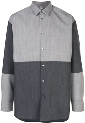 Oamc Two Tone Long Sleeve Shirt