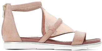 Mjus Metallic Leather Flat Sandals