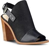 Nine West Pickens Peep Toe Leather Mules