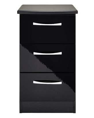 Sloane Marisota Gloss Assembled 3 Drawer Bedside