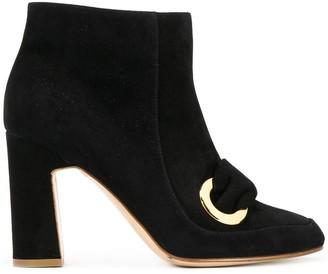 Rupert Sanderson Parilla ring-detail ankle boots