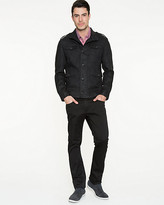 Le Château Linen Funnel Neck Slim Fit Jacket