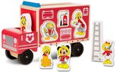 Melissa & Doug Disney Mickey Mouse & Friends Wooden Fire Truck Playset by