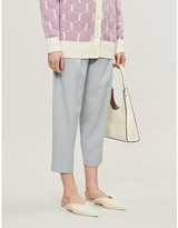See by Chloe High-rise tapered wool-blend twill trousers