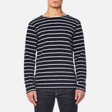Armor Lux Men's Towelling Long Sleeve Stripe Top Seal Nature
