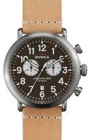 Shinola 47mm Runwell Chronograph Watch, Natural