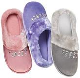Avon Memory Foam Jeweled Slipper Scuff
