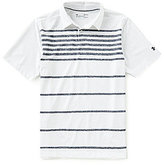 Under Armour Golf Coolswitch Brassie Stripe Short-Sleeve Polo Shirt