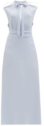 Roland Mouret Katios Cut-out Cady Midi Dress - Light Blue
