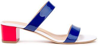 Giuseppe Zanotti Color-block Patent-leather Mules