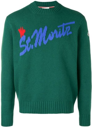 Moncler Intarsia Logo Knitted Sweater